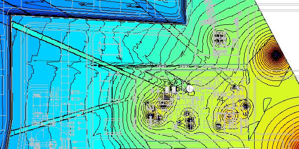Large industrial unit noise map