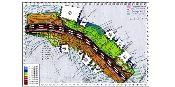 Railway noise map