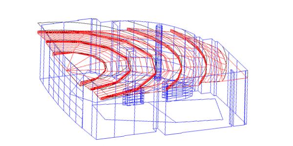 Auditorium acoustic ceiling design