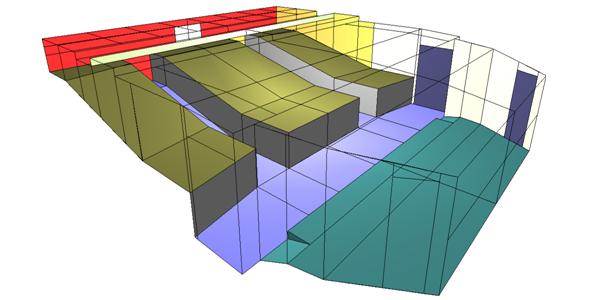 Auditorium 3D acoustic model