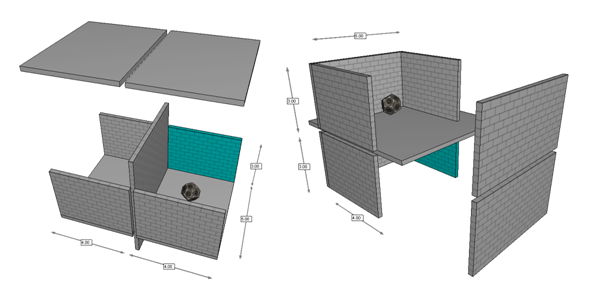 Sound insulation study 3D model