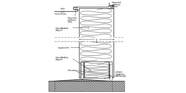 Noise insulating door cross-section