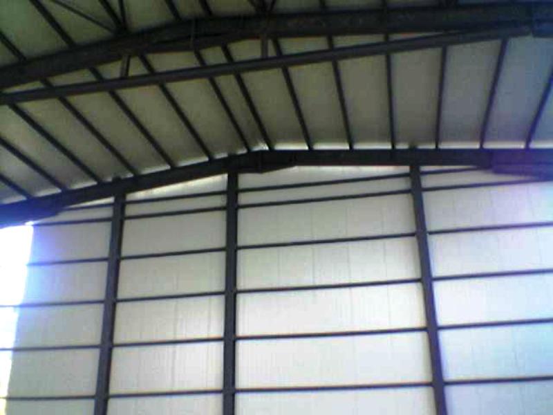 Metal panel building
