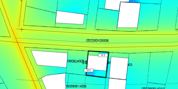 Strategic noise mapping in residential area