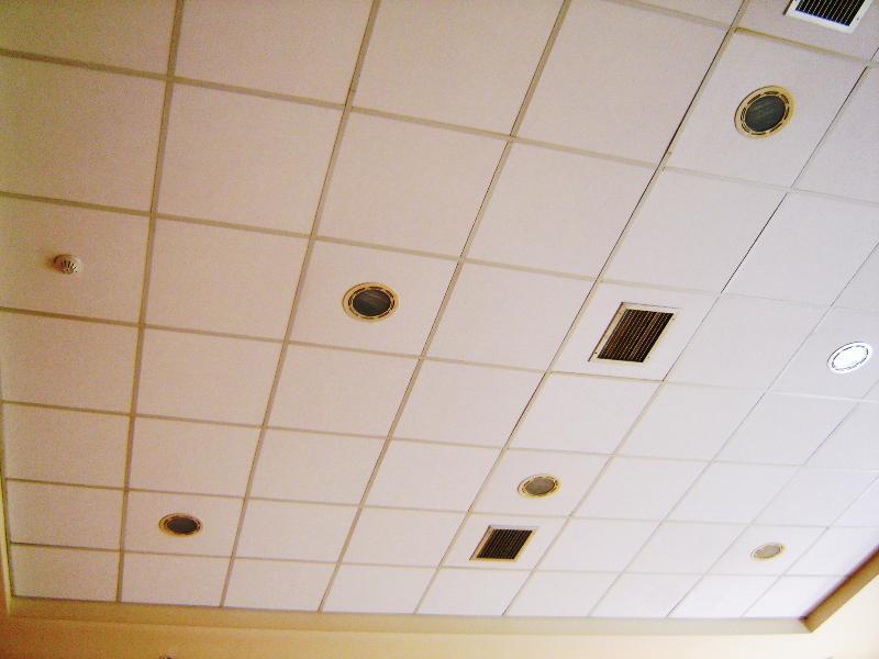 Ceiling acoustic tiles